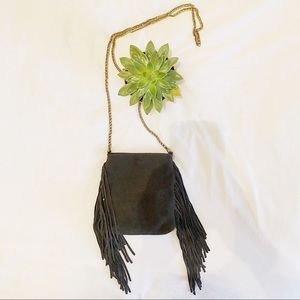 Suede chain fringe Urban Outfitters side bag